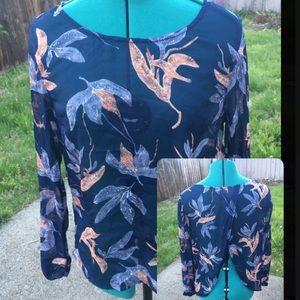 Sheer open back Quicksilver blouse